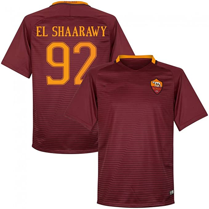 EKUKJSC-Sports 2016 2017 como romaníes Camiseta 92 Stephan El Shaarawy Home Fútbol Fútbol Jersey