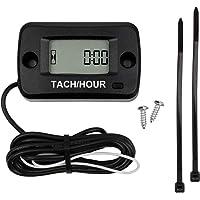 Black Digital Hour Meter Gauge Timer for Gasoline Engine Racing Motorcycle ATV Mower Akozon Hour Meter