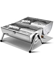 Grillz Charcoal BBQ Smoker Camping Grill Portable Barbeque