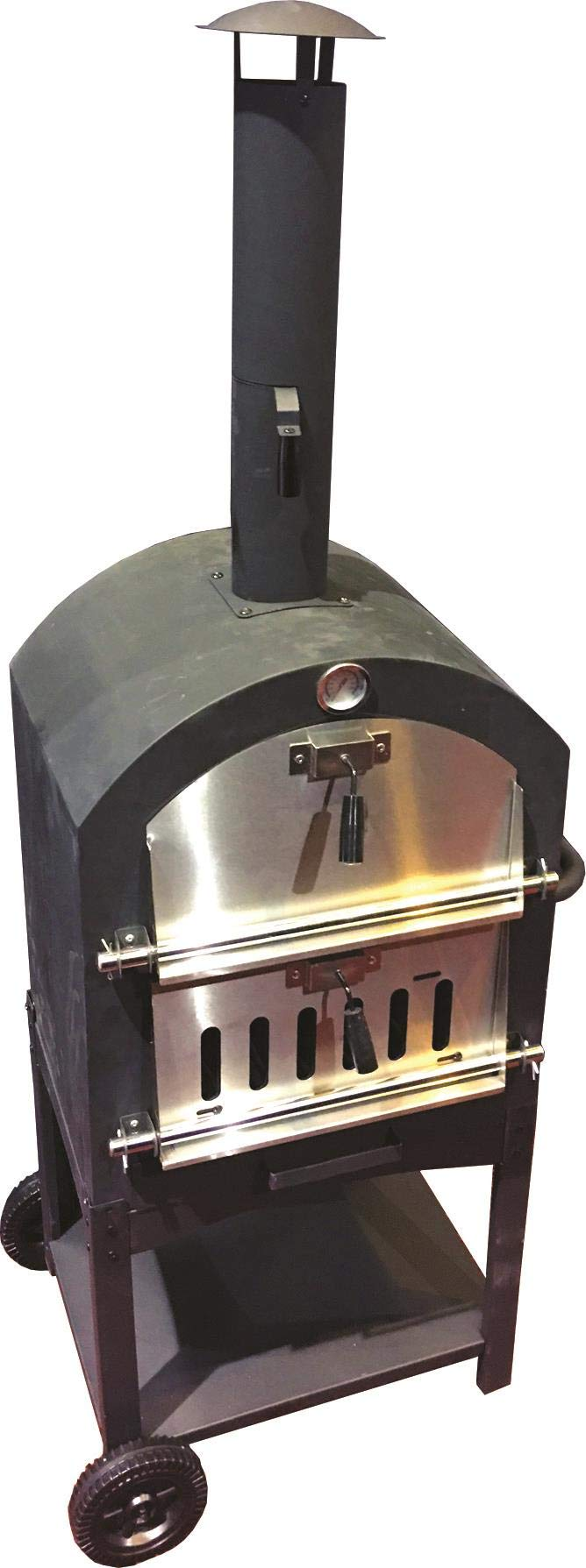 Harbor Gardens KUK002B Monterey Pizza Oven with Stone, Stainless/Enamel Coated Steel by Harbor Gardens