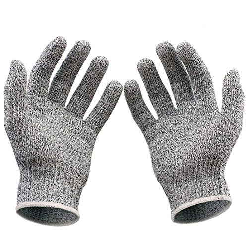 Mr Grey Costume (1-Pcs (1-Pair) Superb Popular New Stainless Steel Glove Stab-Resistant Butcher Hand Protect Wire Metal Color Heather Grey Size S)