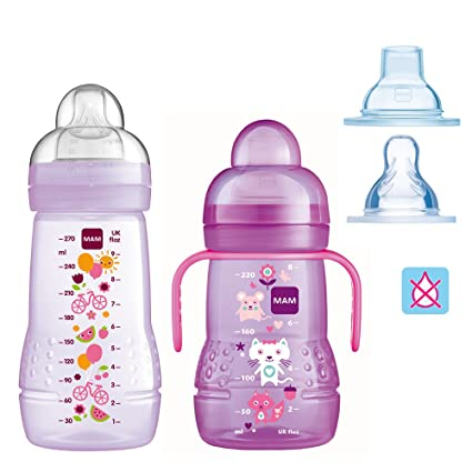 Mam botellas biberones Easy Active Baby Bottle Set//Girl//1 ...