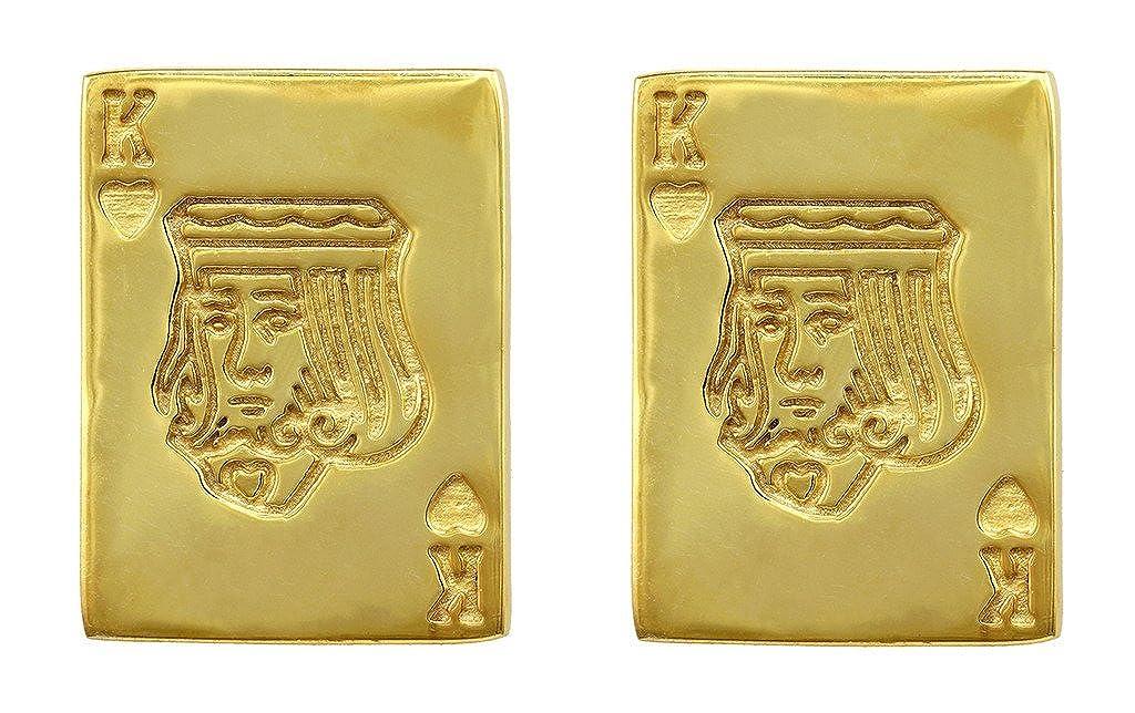Fadkart Designer King Card Casual Cufflink for Men