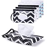 Portable Wet Wipes Dispenser Container - Baby Wipes case Pouch Reusable & Refillable Baby Travel Wipes Dispenser…