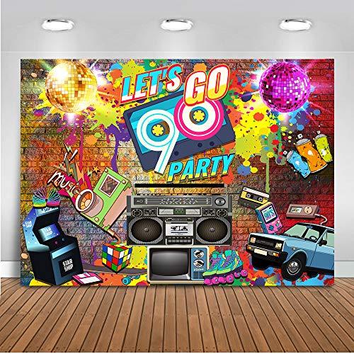 Mehofoto 90's Party Backdrop Graffiti Hip Pop Neon