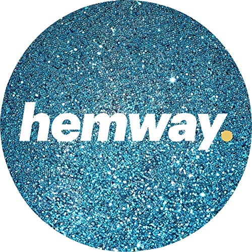(Hemway Turquoise Premium Glitter Multi Purpose Dust Powder 100g/3.5oz for use with Arts & Crafts Wine Glass Decoration Weddings Cards Flowers Cosmetic Face Eye Body Nails Skin Hair)