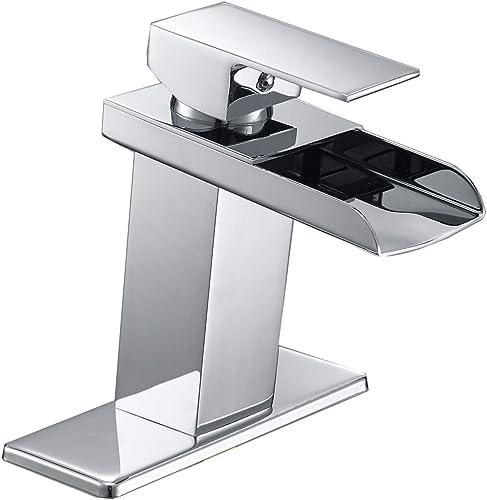 Era Bathroom Faucet Chrome Single Handle Commercial Modern Waterfall Bath Faucets One Hole Sink Lavatory Basin Brass Deck Mount