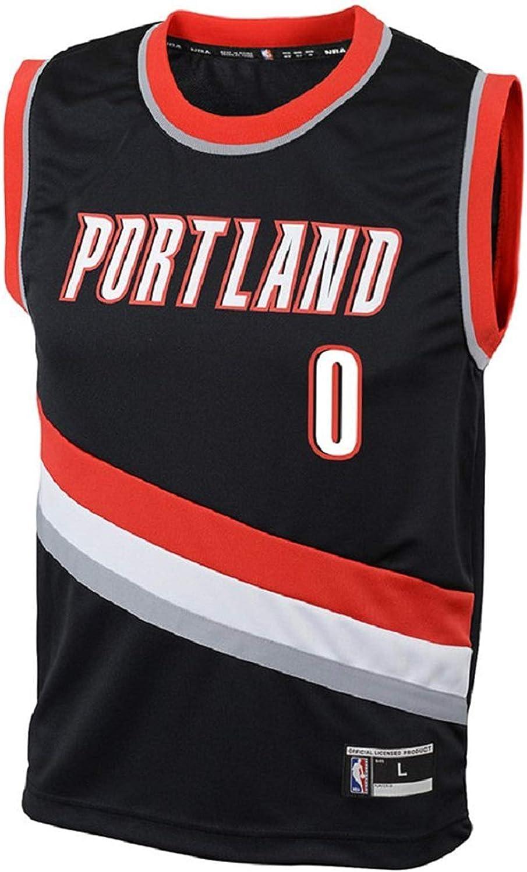 Outerstuff Damian Lillard Portland Trail Blazers NBA Youth Black Road Replica Jersey