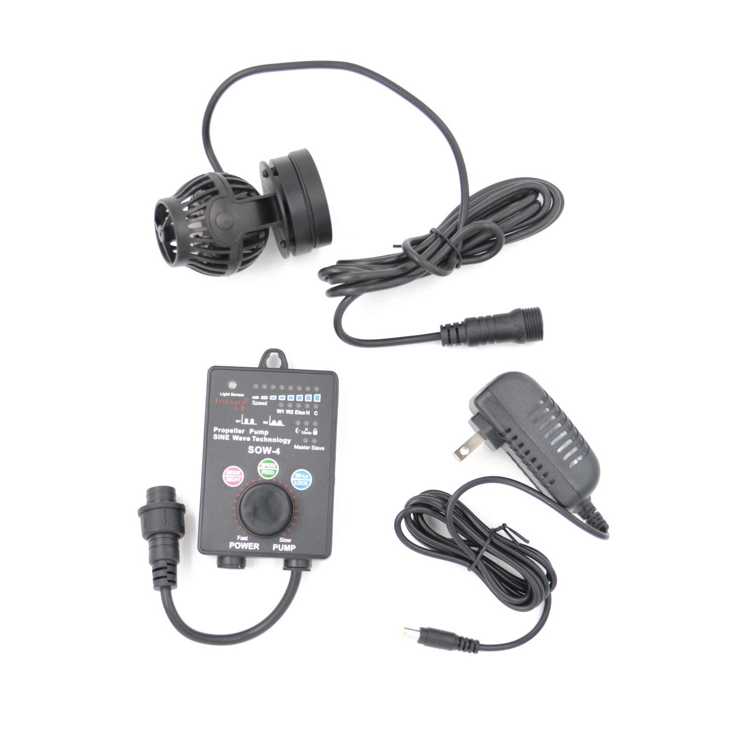 Jebao SOW Wave Maker Flow Pump with Controller for Marine Reef Aquarium (SOW-4) by Jebao