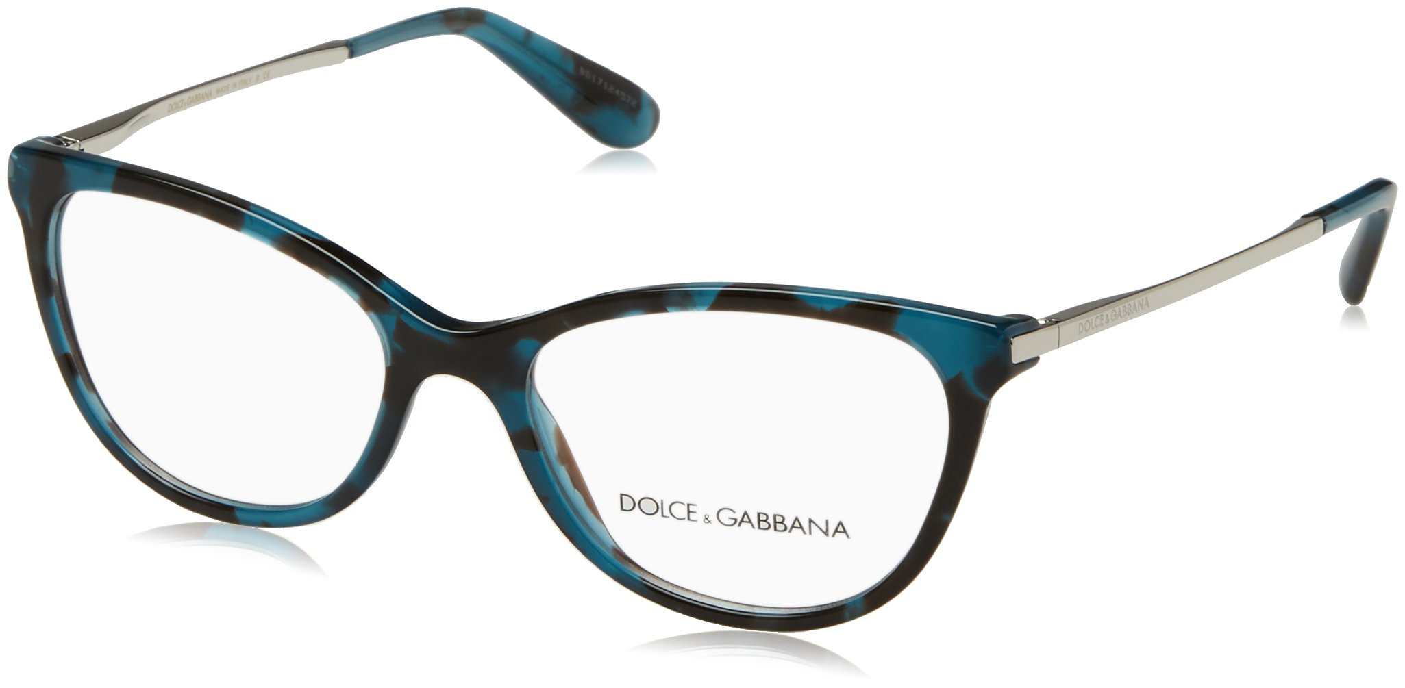 Dolce&Gabbana DG3258 Eyeglass Frames 2887-52 - Petrolemu Cube DG3258-2887-52