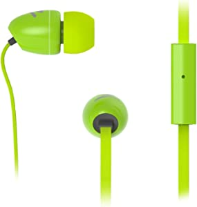 SPROUT Earphones with Mic & Control For Smartphones/iPhone, Tablets/iPad, MP3/iPod, Green