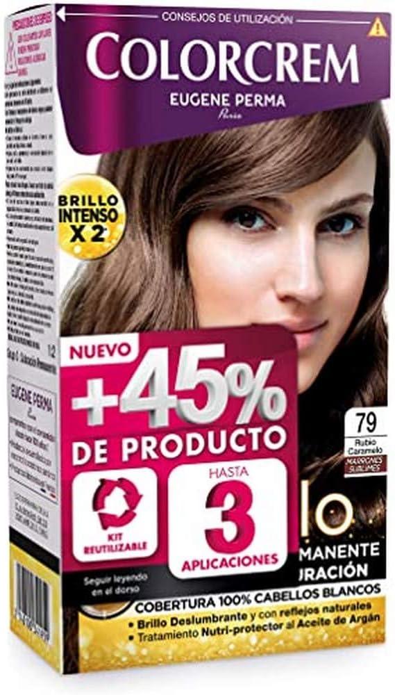 Colorcrem - Tinte permanente mujer - tono 79 Rubio Caramelo ...