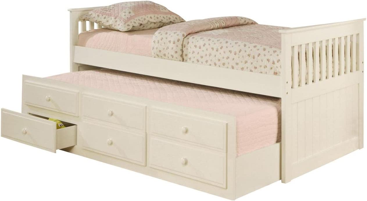 - Amazon.com: La Salle Twin Captain's Bed With Trundle And Storage