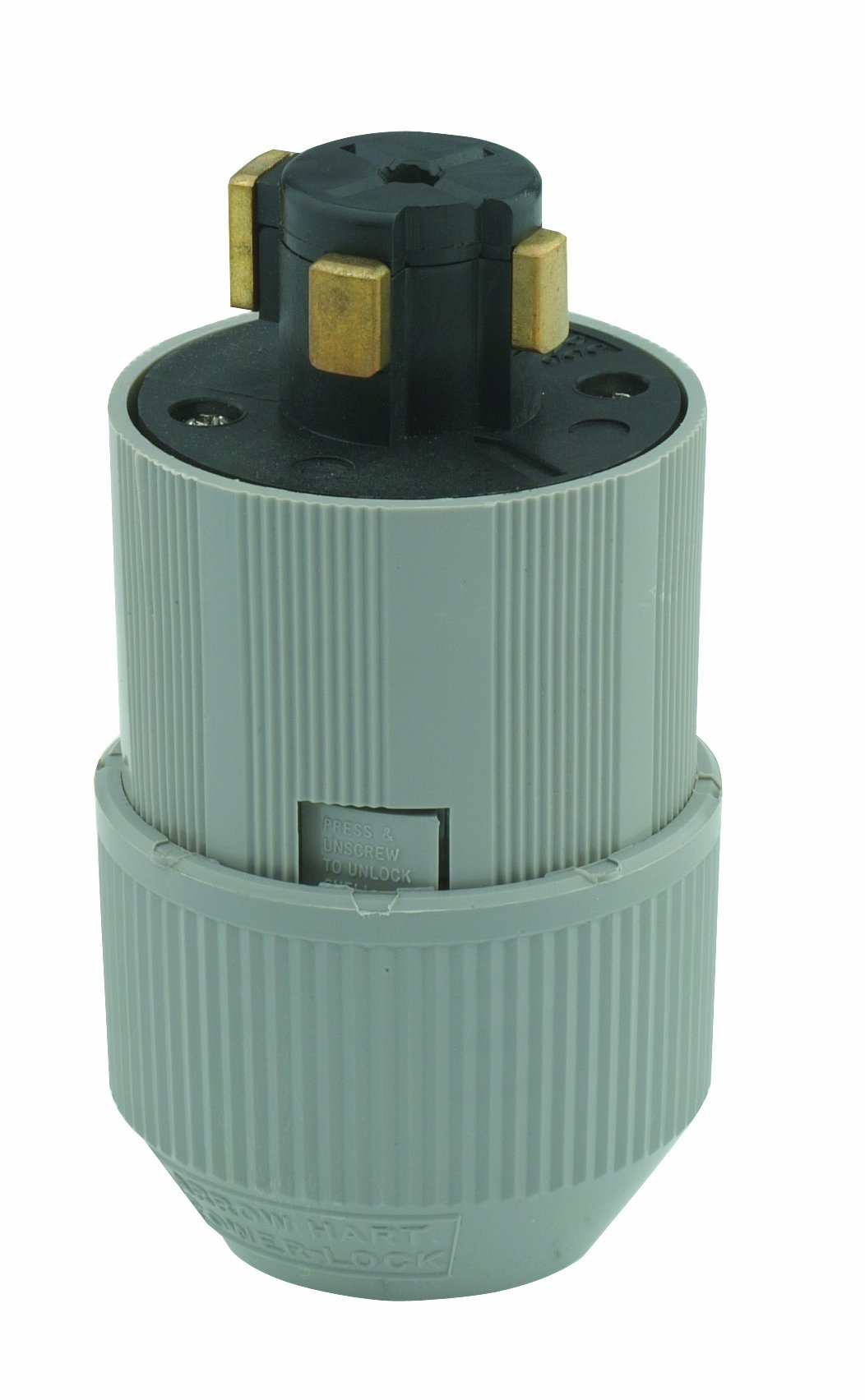 Leviton 21415-B 30 Amp, 600 Volt AC/20 Amp, 250 Volt DC 3-Pole 4-Wire Grounding, Locking Plug by Leviton (Image #1)