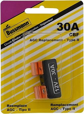 30 Amp Green 1 Pack Bussmann CB233-30 Type III ATM Footprint Automotive Circuit Breaker