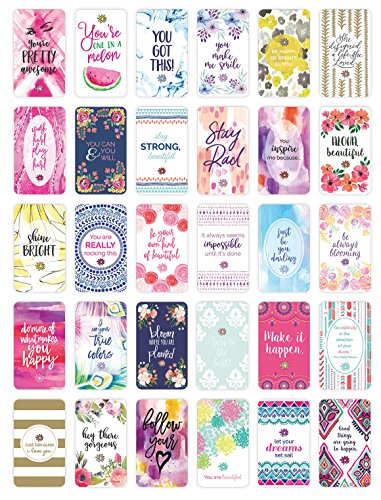 bloom daily planners Belief Card Deck  Cute Inspirational Quote Cards  Just Because Cards  Set of THIRTY 2quot x 35quot Cards  Assorted Designs