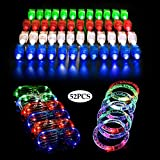 LifBetter 52 Pack Light up Toys , LED Party Favors with 40 PCS LED Finger Lights, 6 PCS LED Glasses and 6 PCS LED Bracelets, Flashing Glow in The Dark Party Supplies by Seerootoys