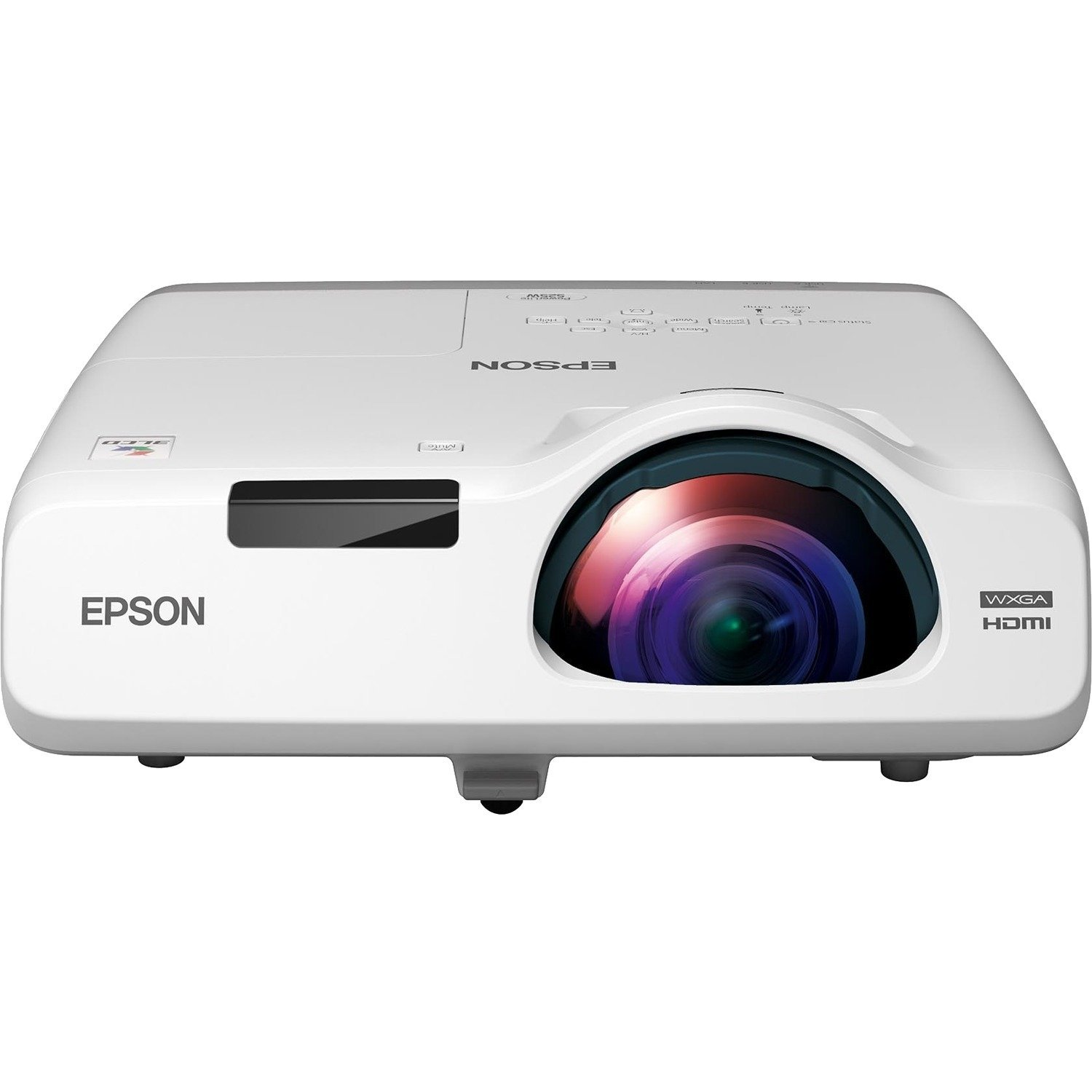 Epson PowerLite 525W - LCD projector - 2800 lumens - WXGA (1280 x 800) - 16:10 - HD - short-throw fixed lens - LAN - Epson Brighter Futures Education Program with 2 years Epson Road Service B00PELAD4S