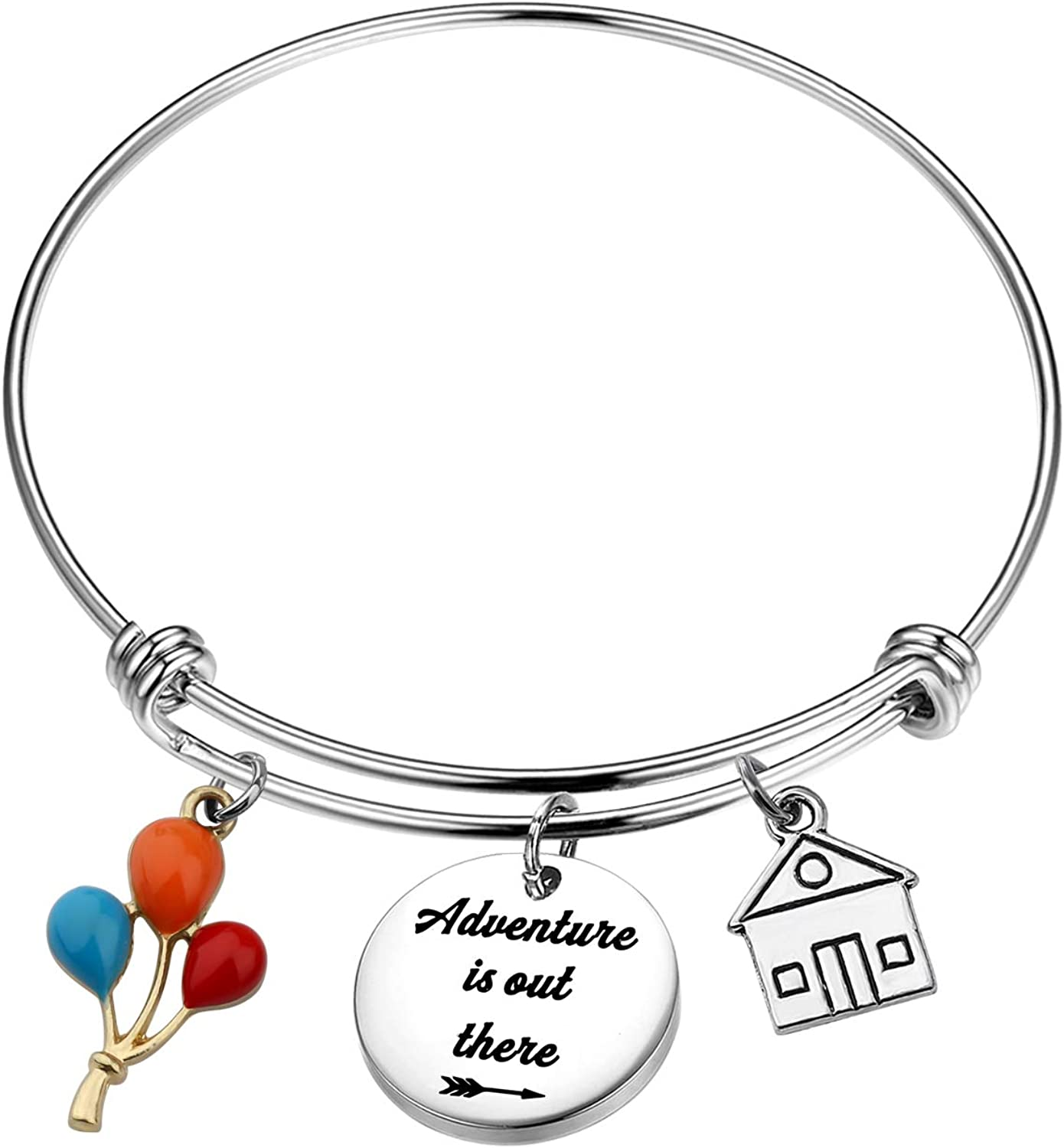 Gzrlyf Adventure is Out There Bracelet Travel Bracelet Inspirational Jewelry Wanderlust Gifts