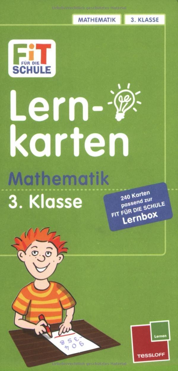 Fit für die Schule: Lernkarten Mathematik 3. Klasse: Mit 240 Lernkarten