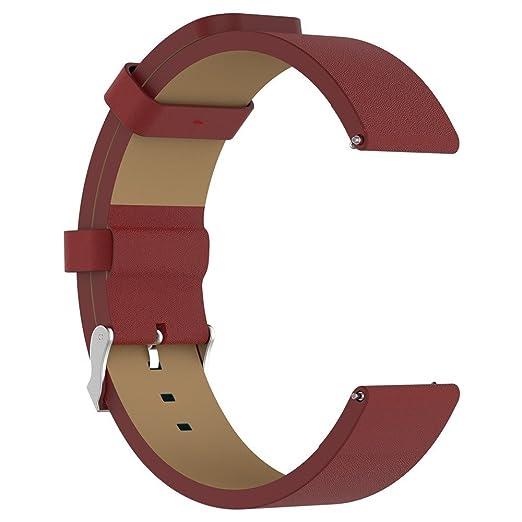 LANSKIRT Accesorios de reemplazo de Bandas de Reloj Correa Cuero de Lujo Correas de Pulsera repuestos de Relojes Extensibles Pulsera para Fitbit Versa: ...