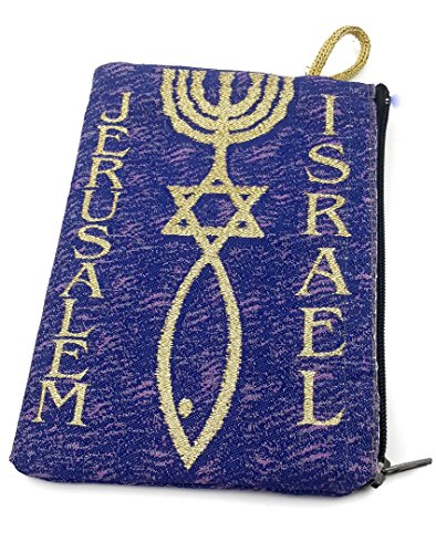 (Messianic Star Of David Rosary Case Icon Pouch Tapestry Jerusalem Prayer 5.7