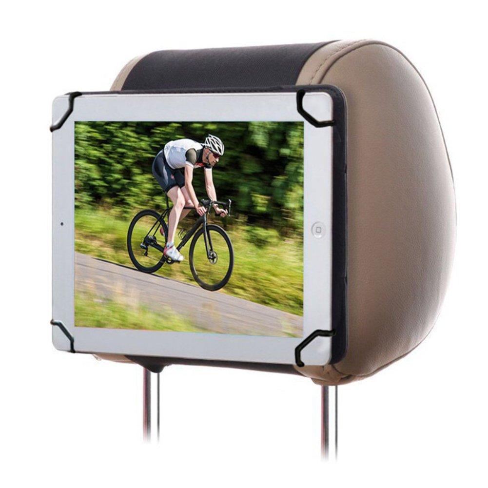 Portable iPad Holder Back Seat Holder Case in Car for iPad Mini//Mini 2// Mini 3// Mini 4// Kindle Fire 7// Kindle Fire HD 8 Color Black RUISIKIOU 7-8 Inch Universal Car iPad Holder Mount