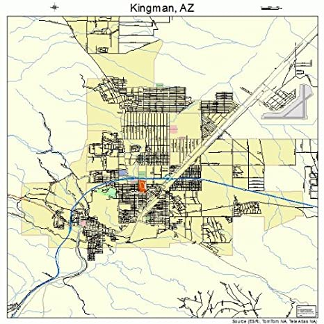 Map Of Kingman Arizona Amazon.com: Large Street & Road Map of Kingman, Arizona AZ