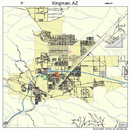 Kingman Az Map Amazon.com: Large Street & Road Map of Kingman, Arizona AZ