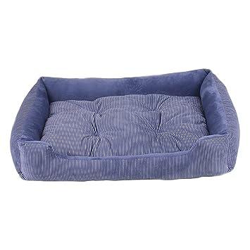 WYSBAOSHU Rayas Cama para Mascotas Sofá de Perro Gato S-XXL(Bleu,M): Amazon.es: Productos para mascotas