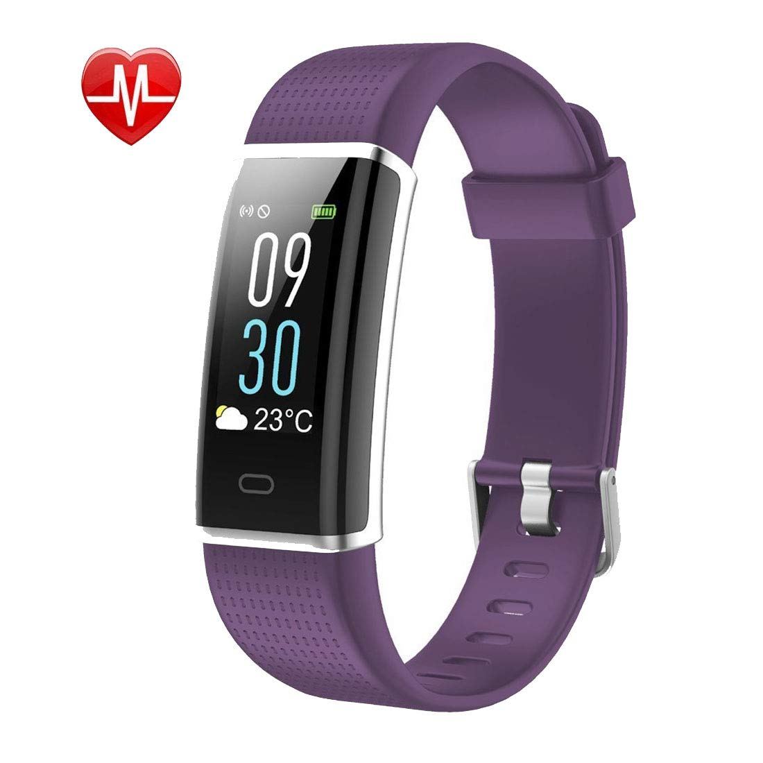 Letuboner Fitness Tracker,Color Screen Activity Tracker with Heart Rate Monitor,IP68 Waterproof Smart Wristband with Pedometer Calorie Counter Watch Sleep Monitor for Men Women Kids (Purple)