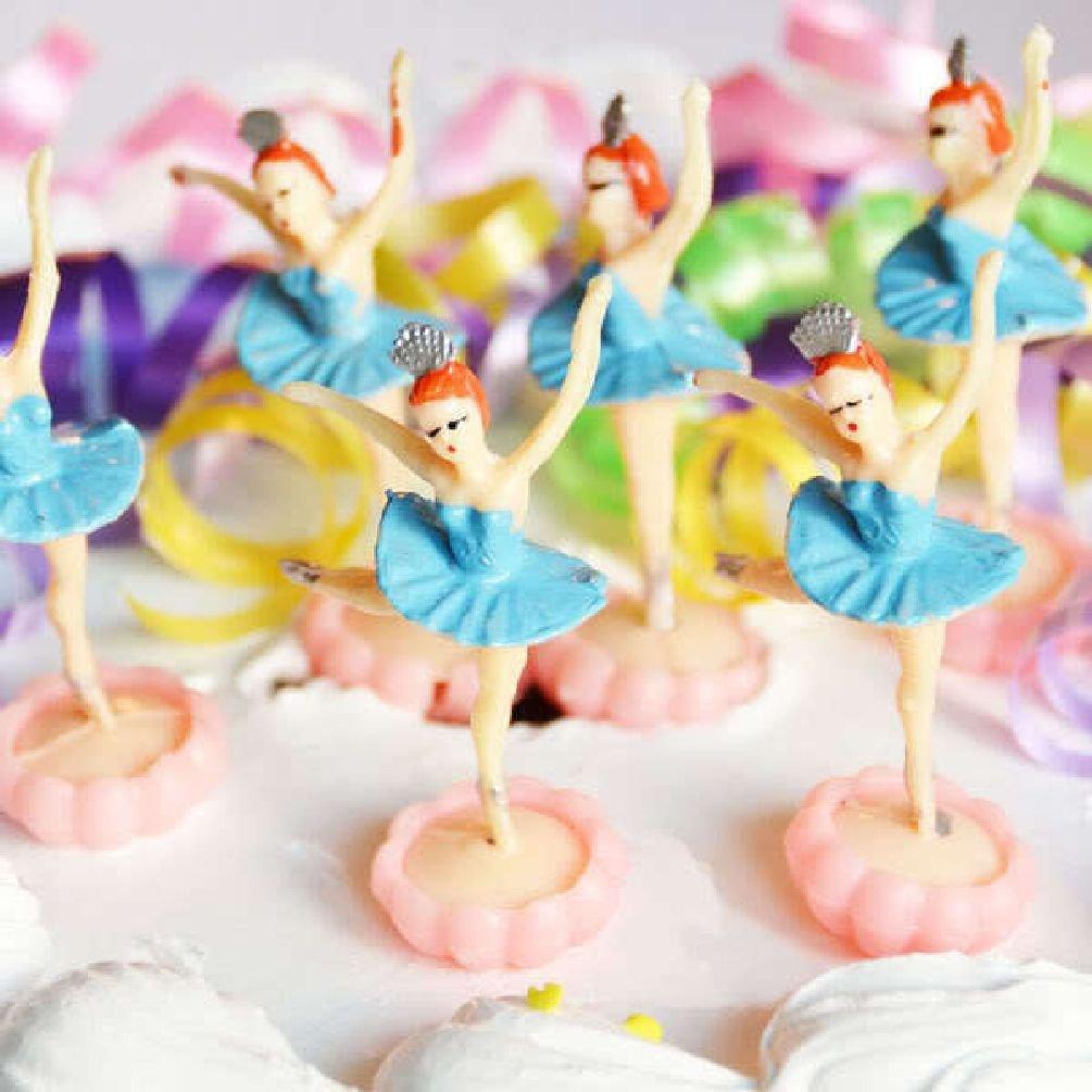 Dorigan home series 6 Ballerina Blue Cake Topper Ballet Favor Dance Party Dance Team Decoration