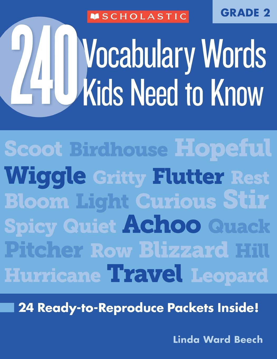 240 Vocabulary Words Kids Need to Know: Grade 2: 24 Ready-to