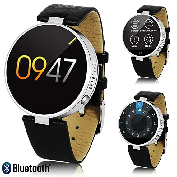 Amazon.com: #1 Professional Leather SmartWatch (SMS/Push ...