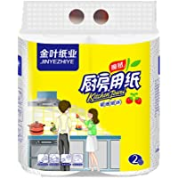 Greatfun Paper Towels, 100% Soft Use, 1 Pack/2 Value Rolls, 2 Layer Thickened Household Paper, for Toilet Paper Table Kitchen Paper, White, 1 Roll/82 sheets, 22x20cm/sheet