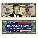 Set of 5 - Donald Trump 2016 Presidential Dollar Bill