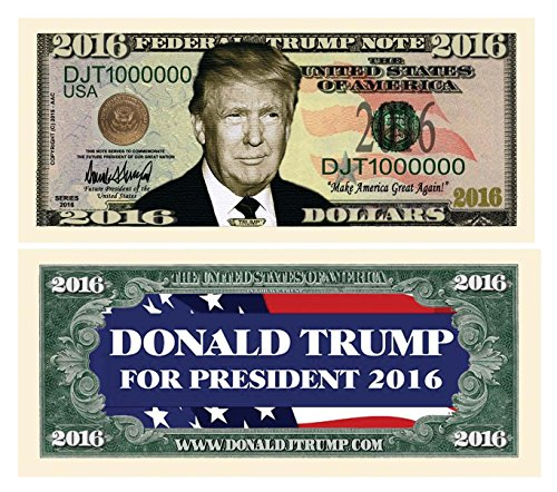 - Set of 5 - Donald Trump 2016 Presidential Dollar Bill