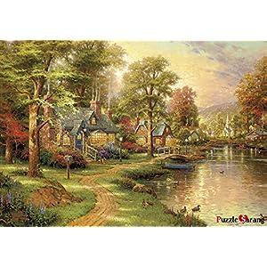 Puzzle Vita Hometown Lake Thomas Kinkade Puzzle Da 500 Pezzi In Dotazione