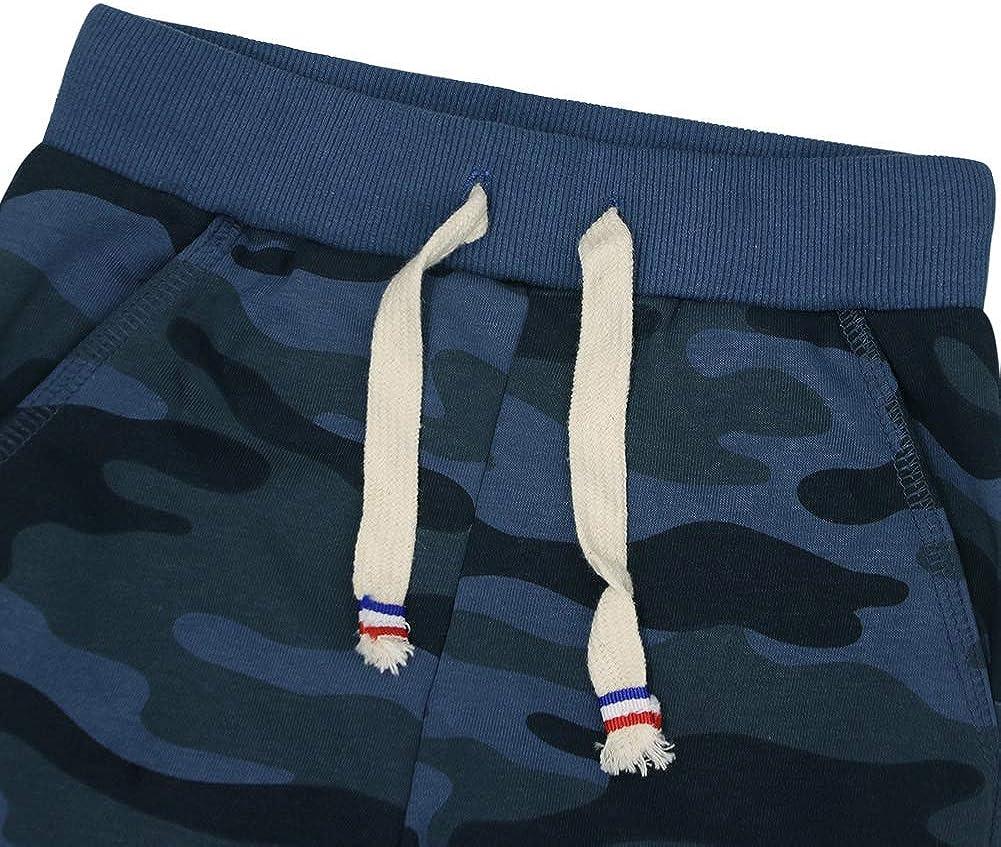 KISBINI Boys Cotton Camouflage Sweatpants Sports Pants for Children Kids
