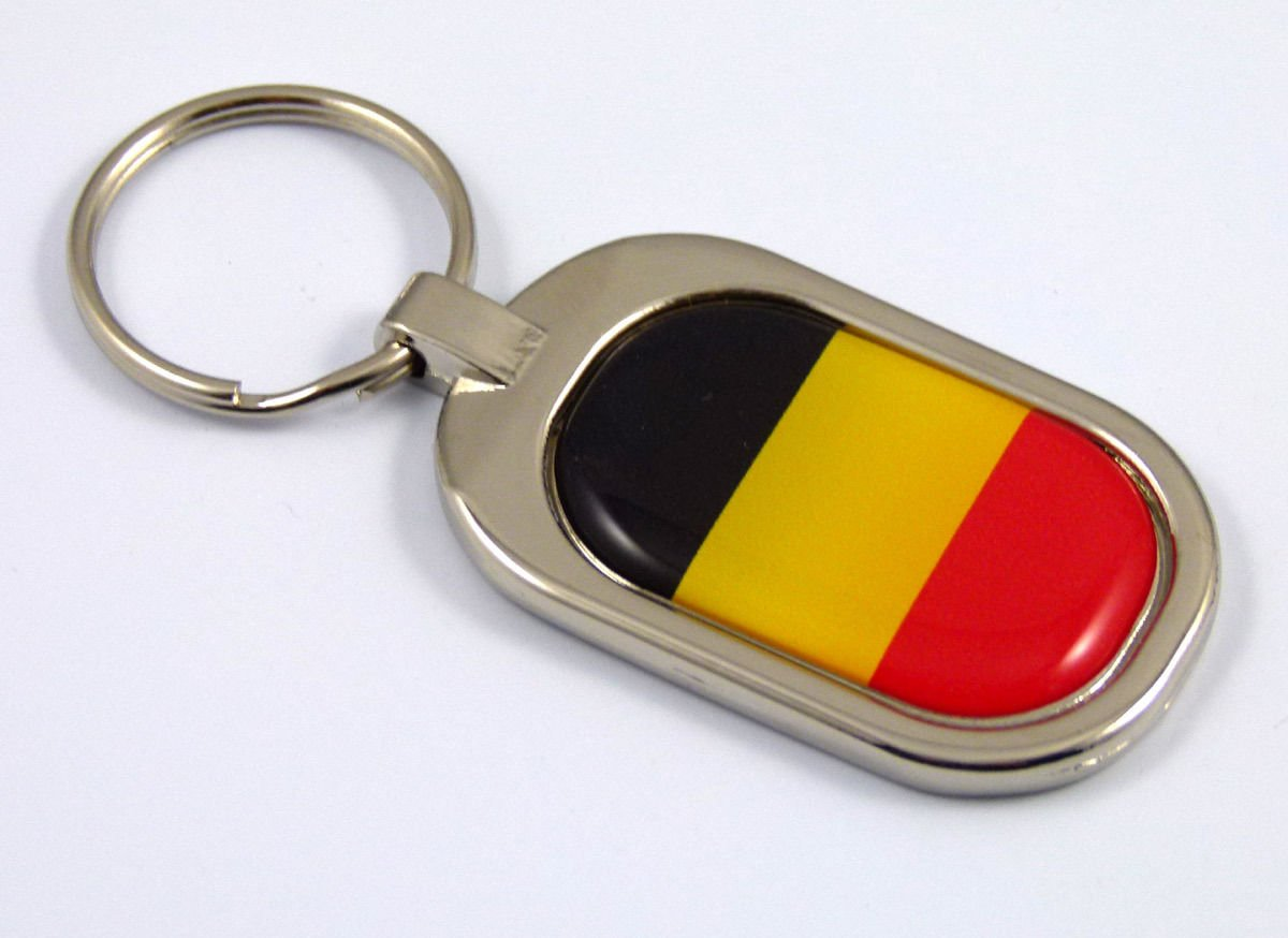Switzerland Flag Key Chain metal chrome plated keychain key fob keyfob Swiss