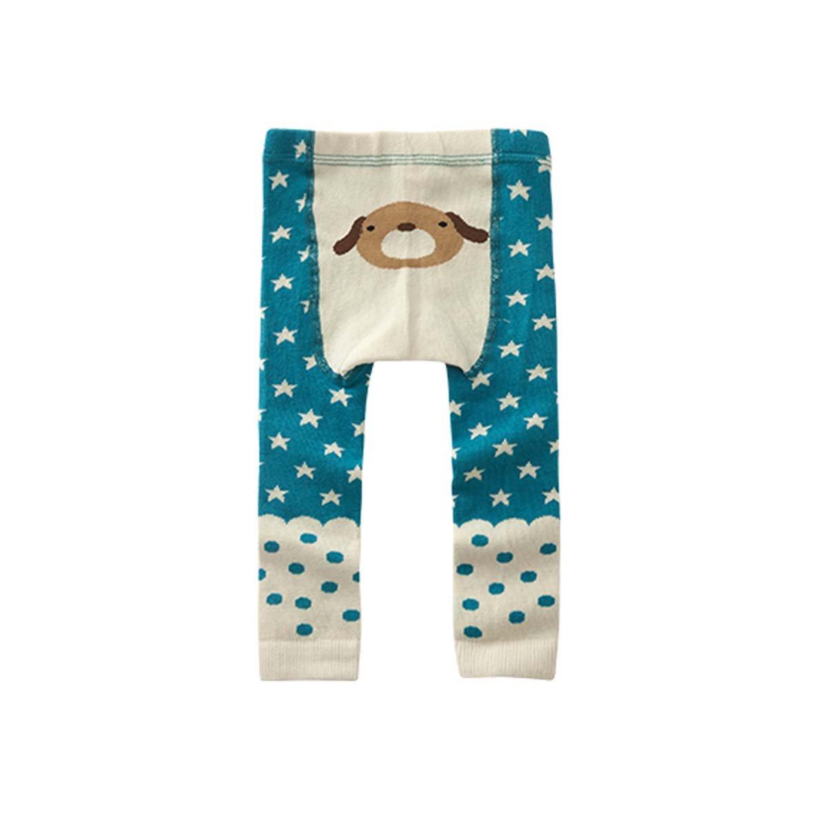 FYGOOD, leggings unisex per neonato, 0-4anni, in cotone 2pcs canard+chien S(0-2ans/longueur:42cm)