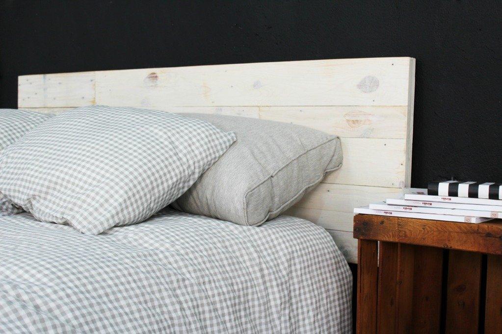 cabecero cama palet 160cm blanco amazones hogar - Cabeceros Con Palets