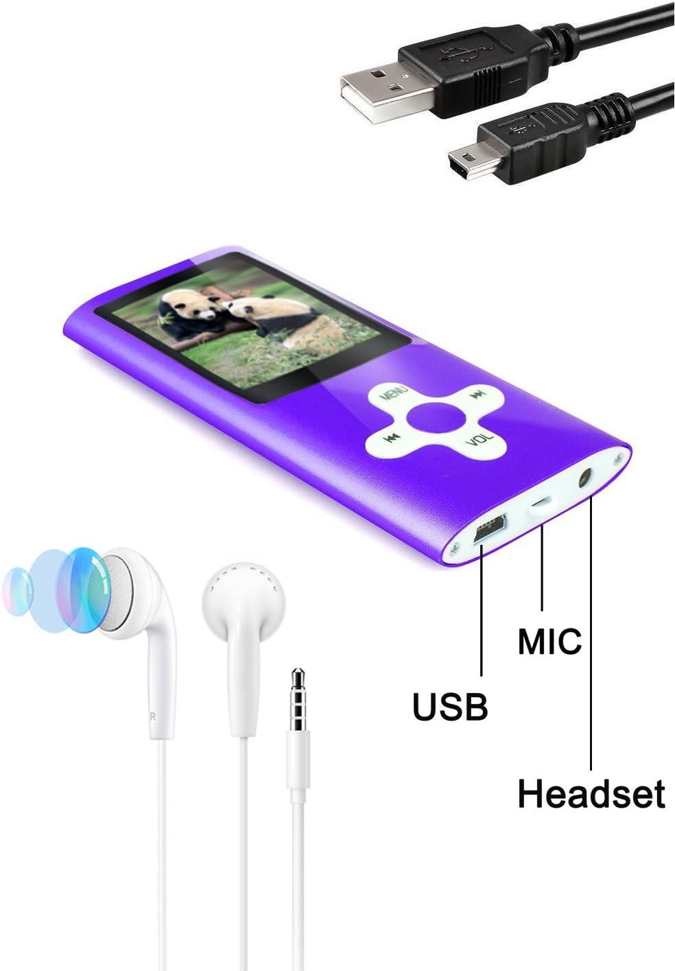Tabmart MP3 MP4 Musik Player Inklusiv 16 GB MicroSD Untersttzung ...
