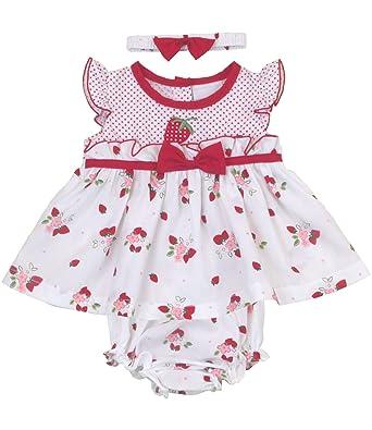 49ee3ba6b6f63 BabyPrem Bébé Robe Culotte Bandeau Ensemble Fraises: Amazon.fr: Vêtements  et accessoires