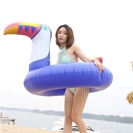 YIWANGO Flotador De Piscina - Flotador Gigante De Tucán Flotador Inflable Anillo De Natación Amortiguador De