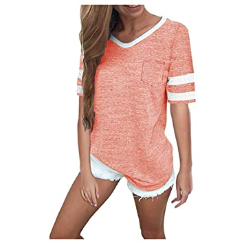 Amazon.com: Vanvler - Camisa de manga corta para mujer ...