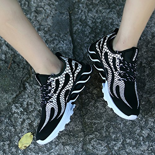 JiYe Mens Running Shoes Outdoors Lace Up Fashion Sneakers by Black EFSQrac7A