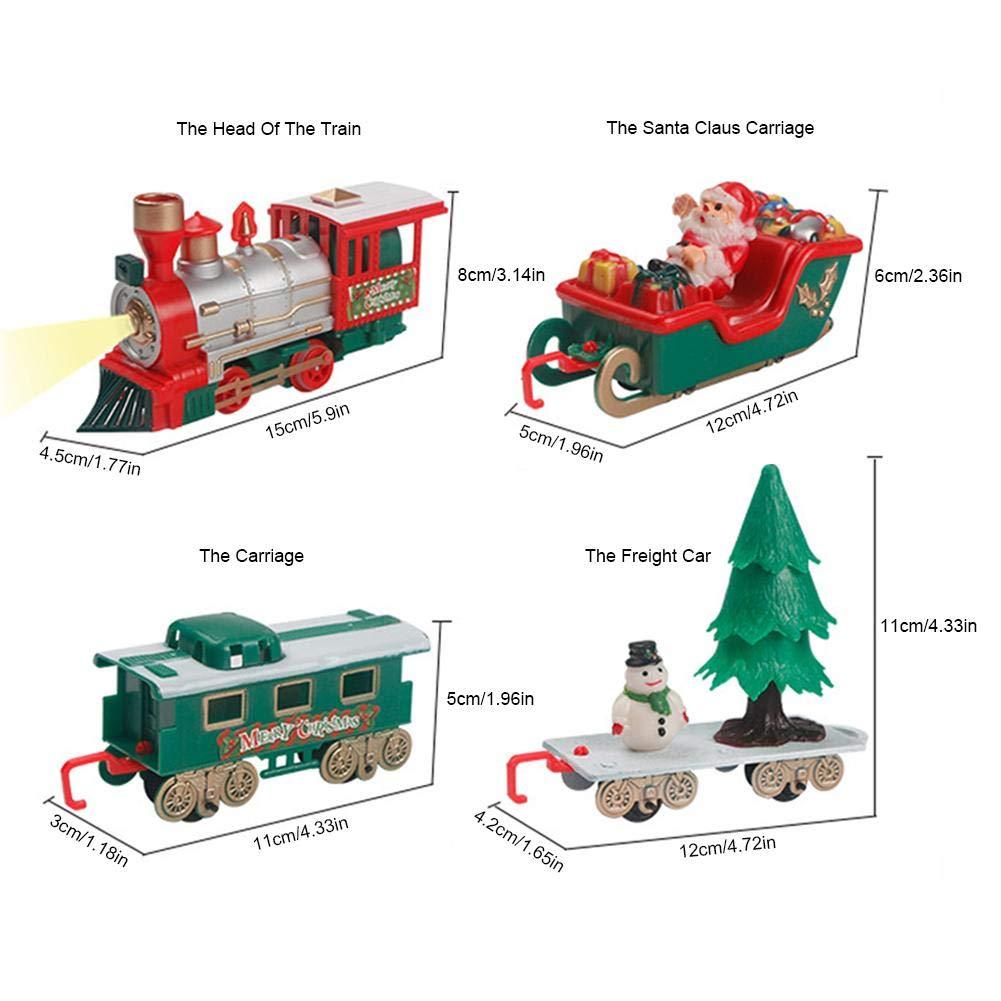fervortop Zug Spielzeug Stra/ßenbahnen Spielzeug Elektrisches Schienen Weihnachts Zug Spielzeug Mit Weihnachtsmann Und Schneemann Design F/ür Kinder /Über 3 Jahre Alt