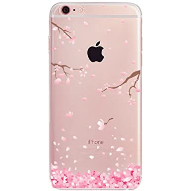 info for 19ae5 06c04 iPhone 6S Cherry Blossom Case, iPhone 6 Phone Case, iPhone 6S TPU Case,  Cherry Life Cherry Blossom Pattern Ultra-Thin Soft Gel TPU Silicone Case  for ...