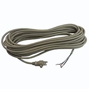 18 Gauge Replacement Power Cord, Fits Sanitaire Perfect Style Upright Vacuums, 3 Conductor, 50' Length, Beige